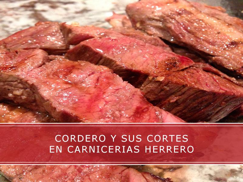 cordero y sus cortes en carnicerias Herrero