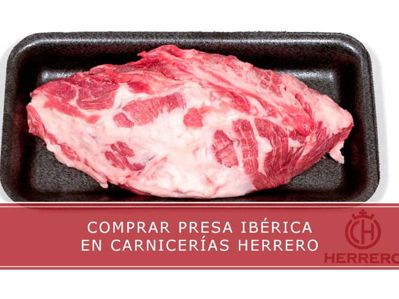 comprar presa ibérica en carnicerías Herrero