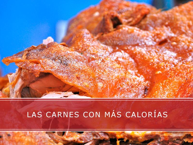 Las carnes con más calorías