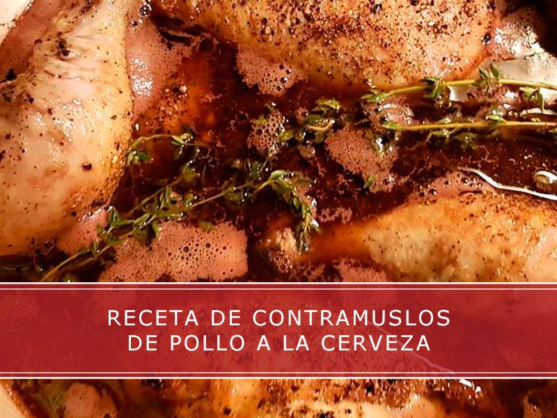 receta de contramuslos de pollo a la cerveza
