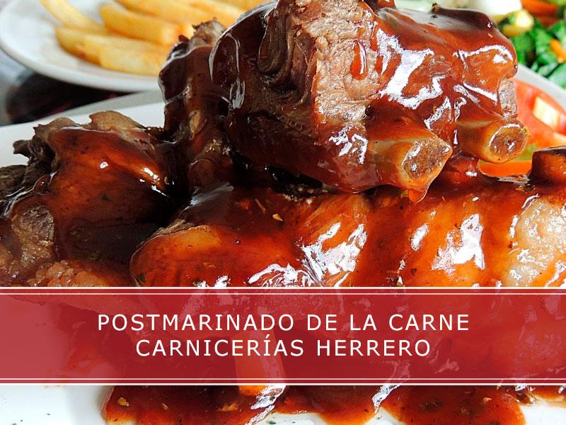 postmarinado de la carne Carnicerías Herrero