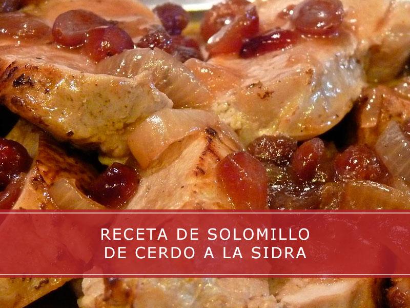 receta de solomillo de cerdo a la sidra