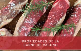 propiedades de la carne de vacuno