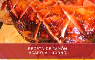 receta de jamón asado al horno