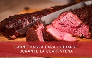 carne magra para cuidarse durante la cuarentena