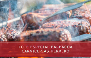 Lote especial barbacoa en Carnicerías Herrero