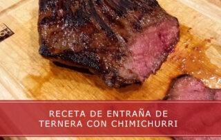 receta de entraña de ternera con chimichurri