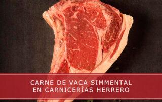 carne de vaca Simmental en Carnicerías Herrero