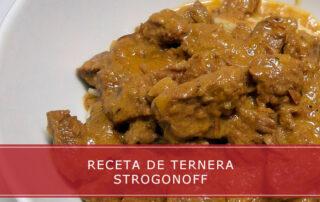 receta de ternera Strogonoff