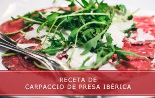 Receta de carpaccio de presa ibérica - Carnicerías Herrero