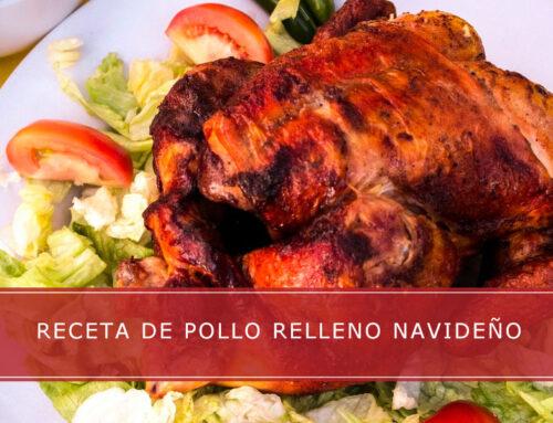Receta de pollo relleno navideño