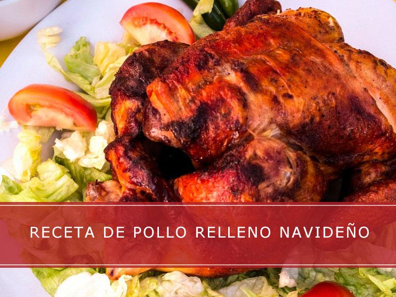 Receta de pollo relleno navideño - Carnicerías Herrero