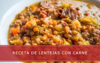 receta de lentejas con carne - Carnicerías Herrero