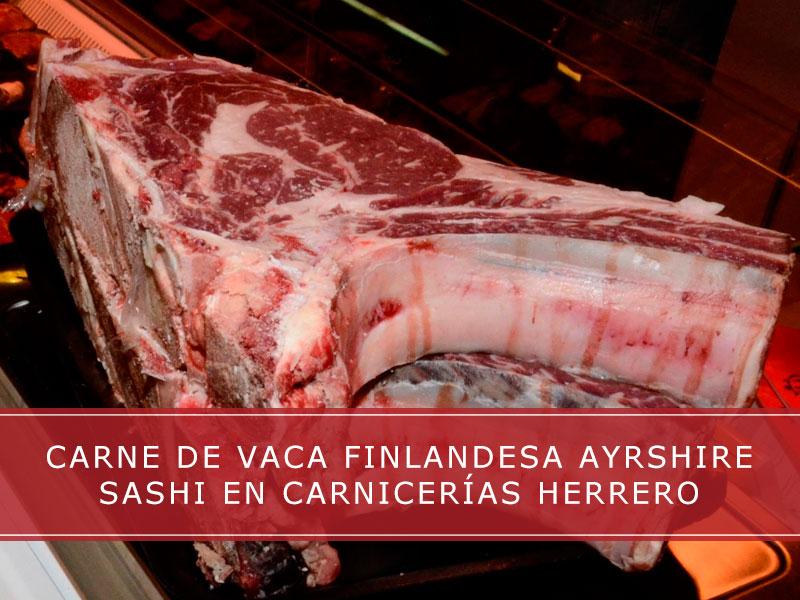 Carne de vaca finlandesa Ayrshire Sashi en Carnicerías Herrero
