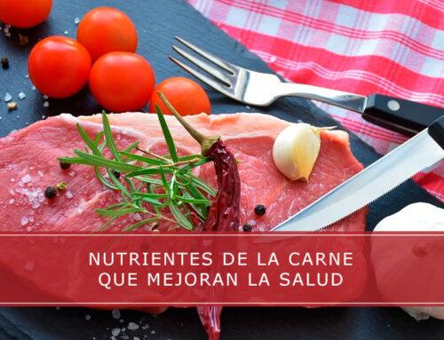 Nutrientes de la carne que mejoran la salud