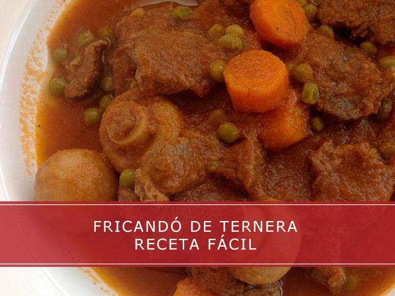 fricandó de ternera receta fácil - Carnicerías Herrero