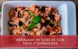 ensalada de cuscús con pavo y garbanzos - Carnicerías Herrero