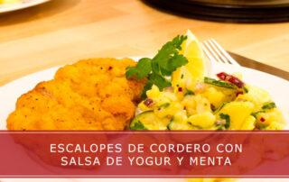 Escalopes de cordero con salsa de yogur y menta - Carnicerías Herrero
